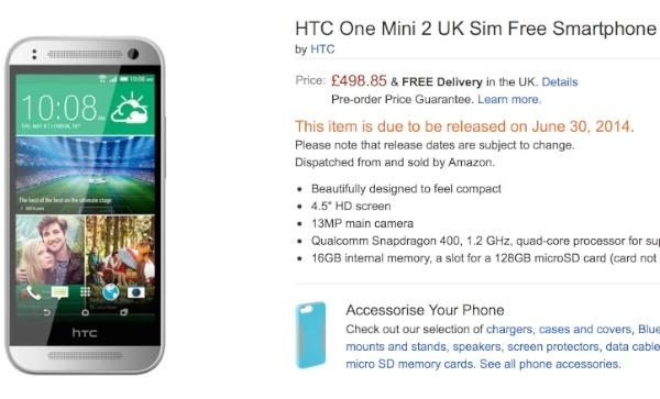 Fecha de lanzamiento del HTC One Mini 2
