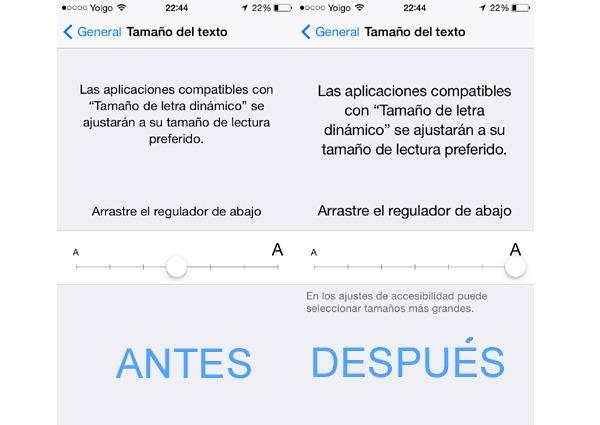 Como Cambiar El Tipo De Fuente De La Letra En Un Iphone Con Sistema