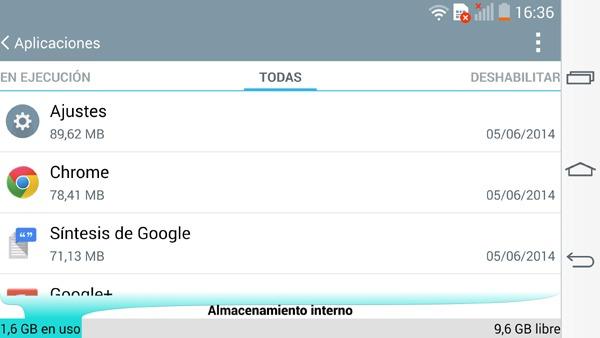 Liberar espacio en la memoria interna de Android