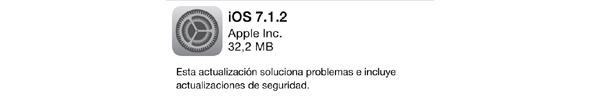 Cómo solucionar el problema del bloqueo al instalar la actualización de iOS 7.1.2