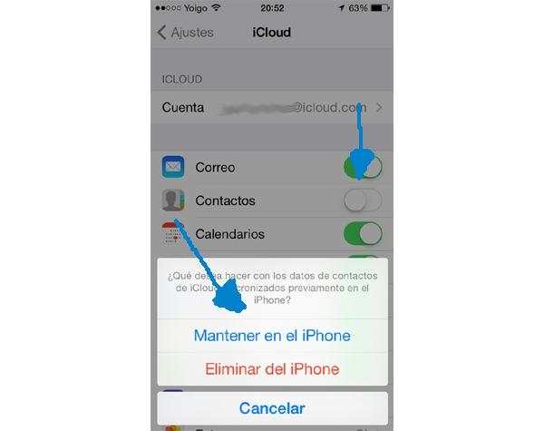 recuperar email borrado iphone