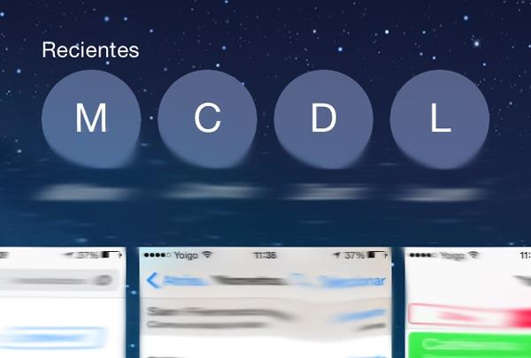 Cómo eliminar los contactos recientes de la multitarea en iOS 8