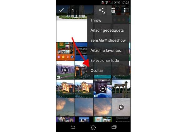 Cómo ocultar fotografías en un Sony Xperia sin necesidad de instalar ninguna aplicación