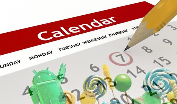 Calendario de actualizaciones de Android 5.0 Lollipop