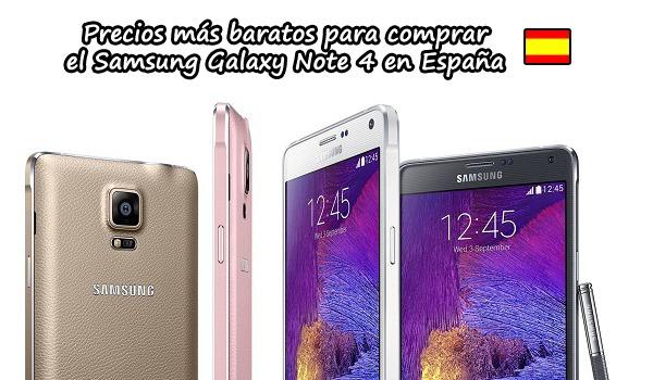 Samsung galaxy note 4 precios m s baratos para comprarlo en espa a - Toldos baratos madrid precios ...