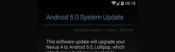 La actualización de Android 5.0 Lollipop ya se puede descargar directamente desde los Nexus