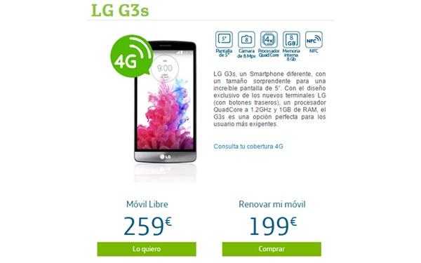 Lg g3s precios y tarifas con movistar for Financiar movil libre