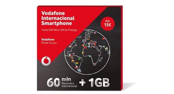 Vodafone Internacional, nueva tarifa prepago con datos y llamadas internacionales