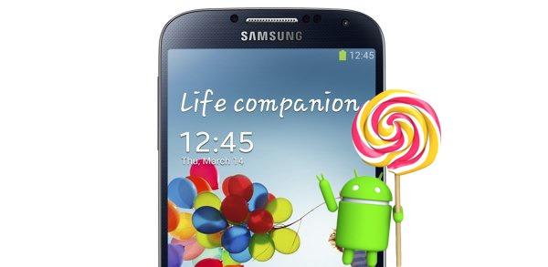 Android 5.0 Lollipop también llegará al Samsung Galaxy S4