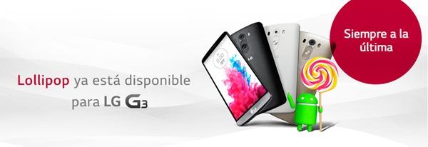 El LG G3 ya se puede actualizar a Android 5.0 Lollipop en España