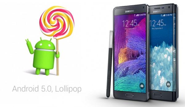 Samsung podría haber confirmado que Lollipop comenzará a distribuirse en enero