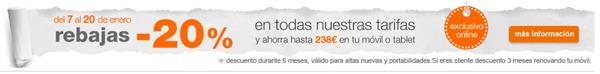 Orange ofrece un descuento del 20 por ciento para altas nuevas