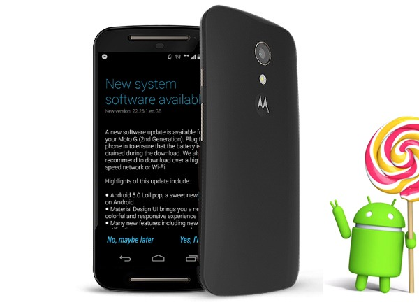 El Motorola Moto G de 2014 recibe Android 5.0.2 en algunas partes del mundo