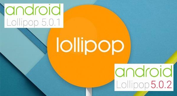 Android 5.0, 5.0.1 y 5.0.2 Lollipop, qué diferencias hay