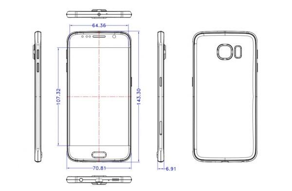 Se filtran las posibles medidas del Samsung Galaxy S6