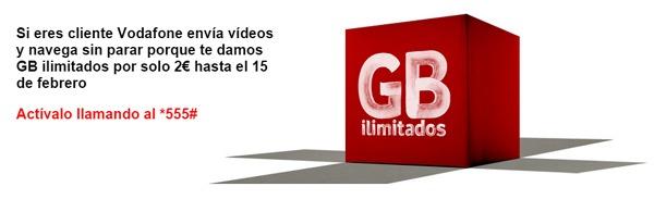 Gigas ilimitados en Vodafone hasta el 15 de febrero