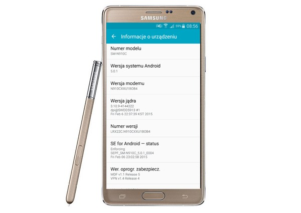El Samsung Galaxy Note 4 recibe Android 5.0.1 Lollipop en Europa