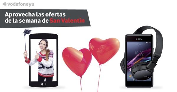 Vodafone ofrece packs de móviles prepago por San Valentín