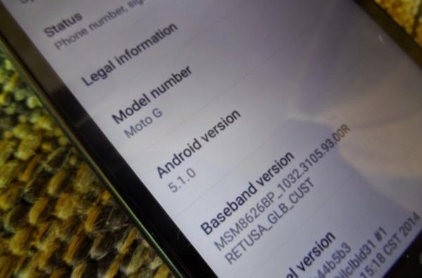 Nuevas imágenes de un Motorola Moto G (2013) funcionando bajo Android 5.1 Lollipop