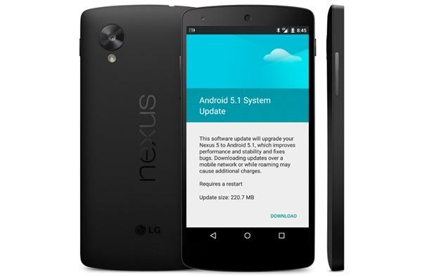 El Nexus 5 comienza a recibir directamente la actualización de Android 5.1 Lollipop