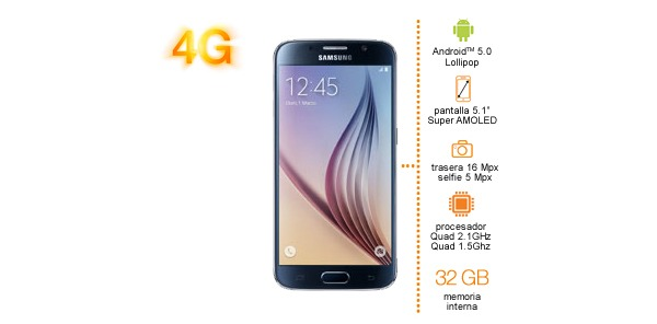 Samsung Galaxy S6 con Orange