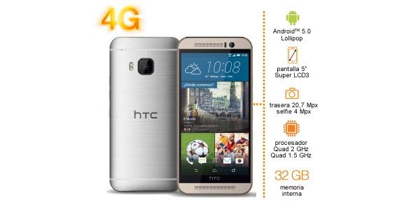 HTC One M9, precios y tarifas con Orange