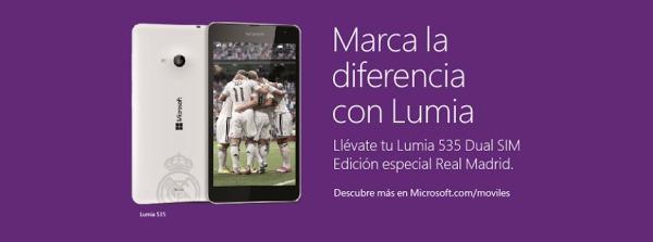 Microsoft Lumia 535 Dual SIM Real Madrid, ya disponible la edición especial