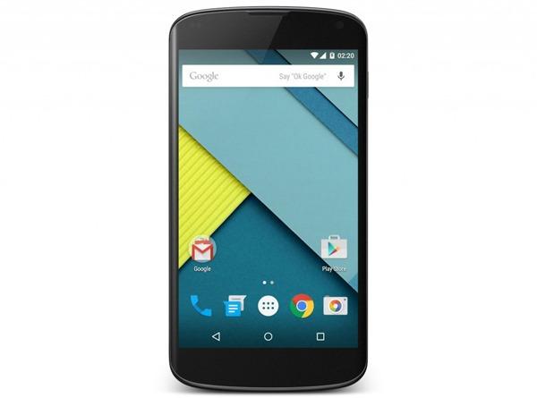 Android 5.1 Lollipop llega a los Nexus 4