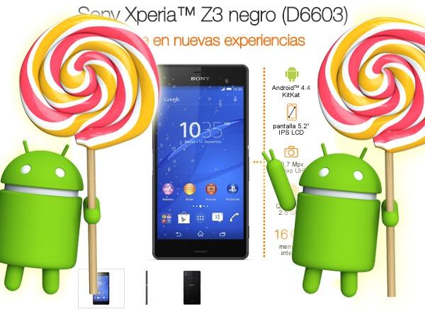 Sony Xperia Z3 y Xperia Z2 de Orange, nueva actualización de Android 5.0.2 Lollipop