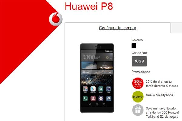 Huawei P8, precios y tarifas con Vodafone