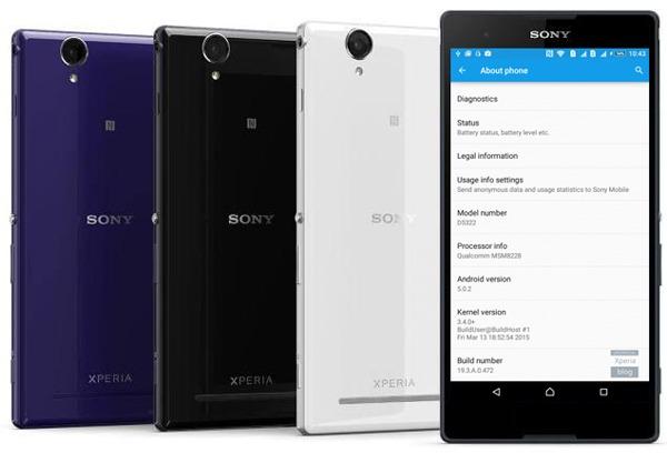 Nueva actualización de Android 5.0.2 Lollipop para el Sony Xperia T2 Ultra
