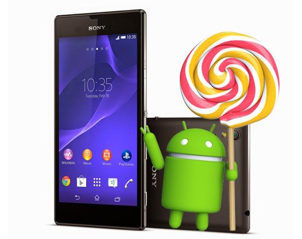El Sony Xperia T3 también se actualizará a Android 5.0.2 Lollipop