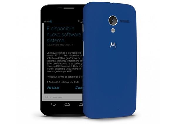 Android 5.1 Lollipop para el Motorola Moto X de 2013, nueva información
