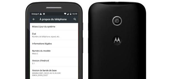 El Motorola Moto E de primera generación se actualiza a Android 5.1 Lollipop