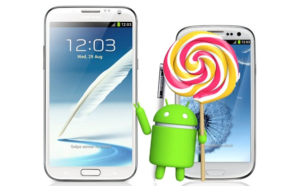 Nada de Lollipop para el Note 2 y el Galaxy S3 de Samsung