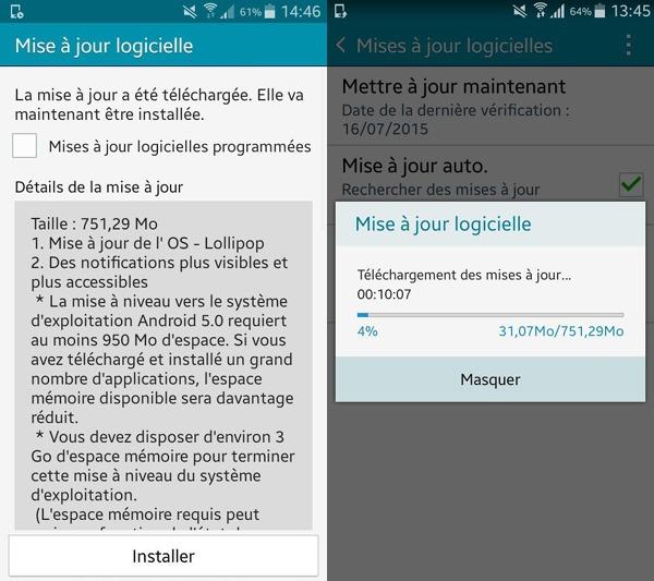 Actualización de Android 5.0.2 Lollipop para los Samsung Galaxy A3 libres