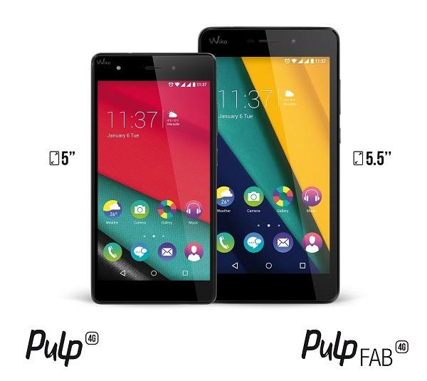 Wiko Pulp 4G y Wiko Pulp Fab 4G