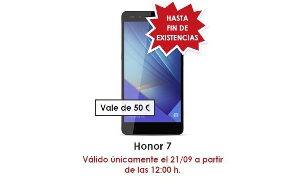 El Honor 7 tendrá un importante descuento el día 21 de septiembre