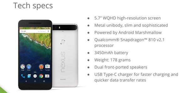 Nexus 6P de Huawei, al descubierto todas sus características