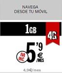 Tarifas de datos de hasta siete euros al mes