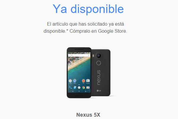 El Nexus 5X ya está a la venta en España
