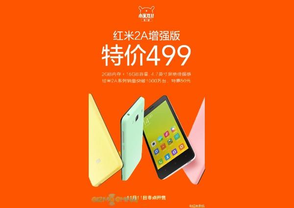 El Xiaomi Redmi 2A recibe una importante renovación
