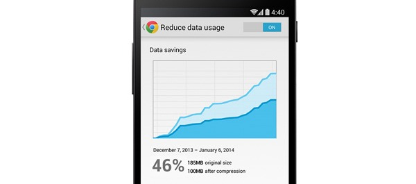 Chrome para Android mejora el uso de datos por Internet