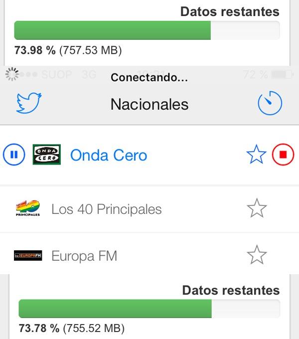 Consumo de la radio por Internet desde el móvil