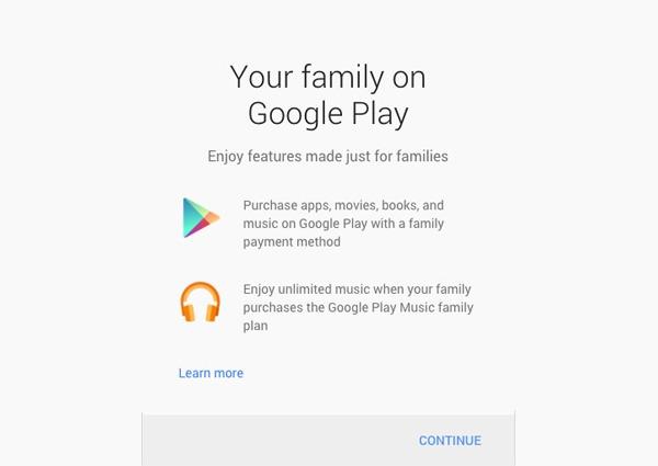Ya puedes comprar aplicaciones en familia desde Google Play