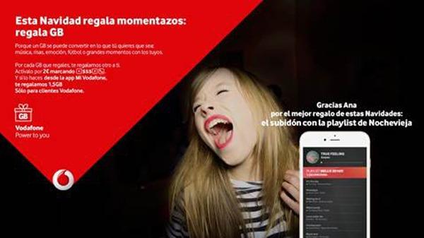 En Navidad, regala datos a tus amigos con Vodafone