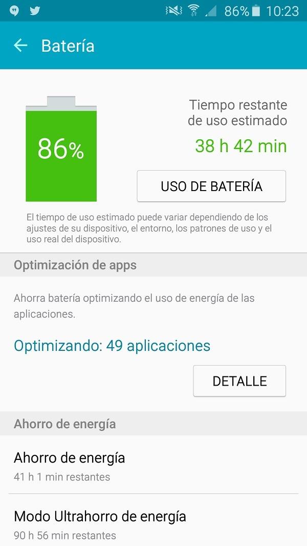 Samsung Galaxy A5 2016 batería