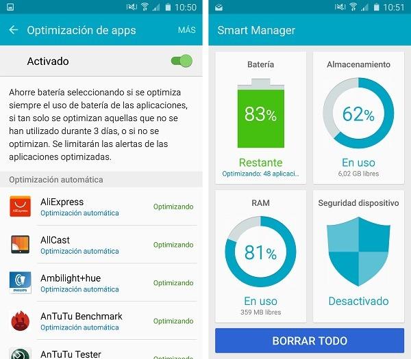 Samsung Galaxy A5 2016 Smart Manager