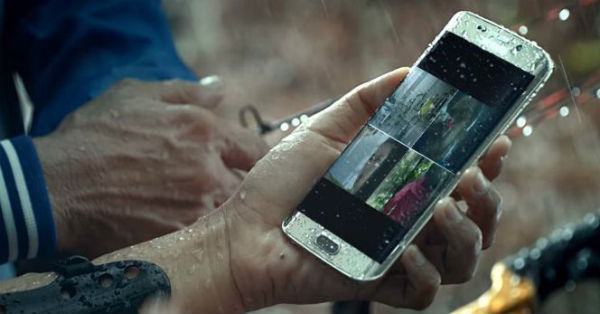 Un vídeo promocional del Samsung Galaxy S7 Edge muestra su resistencia al agua