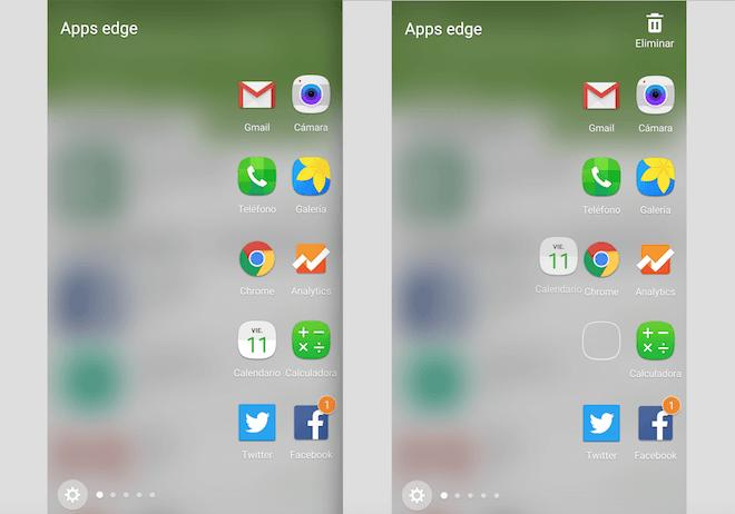 Pantalla Edge Apps Edge